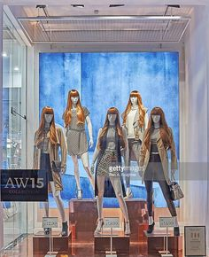 New Look - London Windows Display 2015 as Part of the World Fashion Window Displays on August 22, 2015 in London, England.