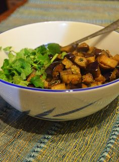 Gormandize With A-dizzle and K-bobo: Cambodian Spiced Eggplant