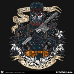 Day of the Dead Patriot T-Shirt - Metal Gear Solid T-Shirt is $11 today at Ript!