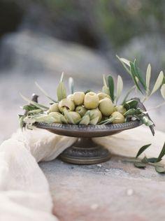 Olives and olive branch Olive Branch Wedding, Olive Wedding, Grecian Wedding, Tuscan Wedding, Mediterranean Wedding, Greek Olives, Under The Tuscan Sun, Olive Gardens, Olive Tree
