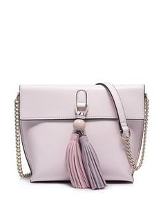 Purple Magnetic Sweet PU Crossbody Bag