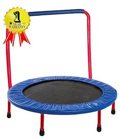 Just arrived Portable & Foldable Trampoline - 36 Dia. Durable Construction Safe for Kids with Padded Frame Cover and Handle / 1 Year Warranty - Yellow by GYMENIST 15 Ft Trampoline, Trampoline Workout, Backyard Trampoline, Trampoline Ideas, Rebounder Trampoline, Trampolines, Thing 1, Sports Toys, Learning