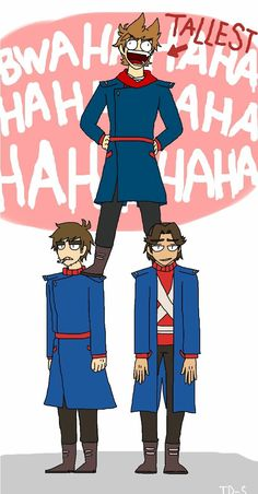 Because his short Eddsworld Comics, Funny Comics, Tord Larsson, Eddsworld Tord, Tomtord Comic, Eddsworld Memes, Banana Bus Squad, Complicated Relationship, Red Army