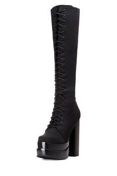 Jeffrey Campbell Shoes BALLISTIC-H Platforms in Black Neoprene