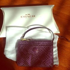 Coach purple wristlet New wristlet with id/cc holder and zipper to store money/other items Coach Bags