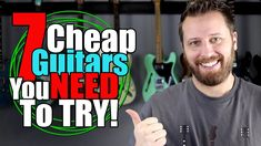 Do you need to spend a ton of cash to get a fantastic guitar? These AMAZING low-cost guitars are proof that you don't! Cheap Guitars, How To Become, How To Get, Backing Tracks, Guitar For Beginners, Guitar Lessons, Songs, Guitar Players, Youtube
