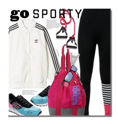 """""""Go Sporty!"""" by beebeely-look ❤ liked on Polyvore featuring Molton Brown, adidas, Arnette, sneakers, sportystyle, twinkledeals and gosporty"""
