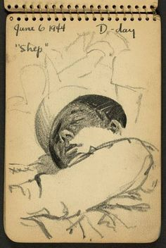 During the Second World War, the young American soldier Victor A. Lundy, only 21-year-old, decided to document his daily life in his sketchbooks, capturing his