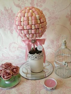 We take a look at the one thing, every crafty bride-to-be is making. Fun and fabulous DIY sweetie trees! Candy Trees, Sweet Carts, Sweet Trees, Tree Centerpieces, Candy Cart, Chocolate Bouquet, Candy Bouquet, Wedding Favours, Diy Wedding