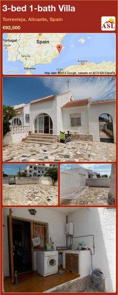 3-bed 1-bath Villa in Torrevieja, Alicante, Spain ►€92,500 #PropertyForSaleInSpain