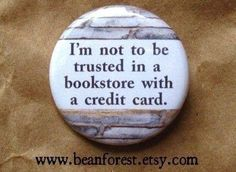 Bookstore & credit card quote on pin