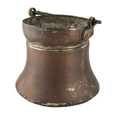"Antique Copper Pail - Solid copper. 7""h x 7""dia http://www.hotmix106.com"