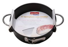 """Handle-It Glass-Bottom Springform Pan With Handles - contemporary - Cake Pans - Frieling USA, Inc.  Glass bottom allows monitoring the baking progress. Non-stick collar for perfect release. Expandable from 14 1/2"""" to 20 1/2""""."""