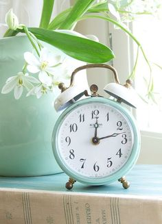 Vintage Wedding Props Your Friends Haven't Thought of Yet Clock – Vintage Wedding Props Color Menta, Mint Color, Mint Green Aesthetic, Mint Walls, Vintage Alarm Clocks, Wedding Props, Mint Blue, Photo Wall Collage, Garden Container