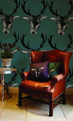 Deer oh Deer! Great Stag Wallpaper from DesResDesign