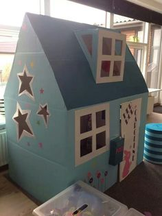 Cardboard house | For the kids | Pinterest