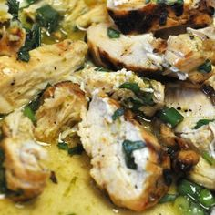 Basil Lime Chicken.  3	Limes (juice and zest) Divided, 3T Olive Oil, ¼c EVOO, 3T Dijon Mustard, 3T Worcestershire, 3T Soy Sauce, 6 Green Onions Chopped Divided, 4 Cloves Garlic Minced Divided, 2T Chopped Basil, Salt and Pepper, 3 lbs Chicken Breasts