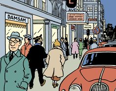 Tintin hits theaters next week in Steven Spielberg's big production. We'll crack open the classic Adventures of Tintin. Tintin Movie, Herge Tintin, Comic Movies, Comic Books, Captain Haddock, Sea Shark, Ligne Claire, Bd Comics, Illustrations