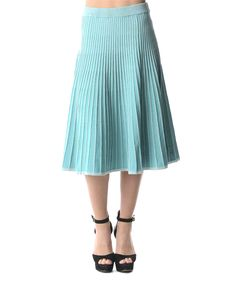 Another great find on #zulily! Aqua & White Stripe A-Line Skirt by DANIELLAY #zulilyfinds
