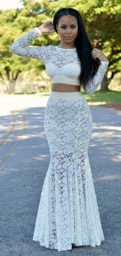 Everything i need mermaid lace dress – honey peaches