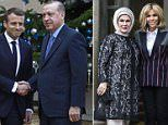 Brigitte Macron's recent criticism does not appear to have bothered her, as she greetedEmine Erdogan at the Elysee Palace in Paris ahead of their husbands' meeting today.