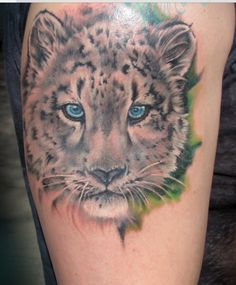 Super cute little snow leopard cub tattoo I got to do on one of my best clients. Snow Leopard tattoo by Liz Venom at Bombshell Tattoos For Dog Lovers, Dog Tattoos, Cat Tattoo, Body Art Tattoos, Sleeve Tattoos, Animal Tattoos, Leopard Tattoos, Snow Leopard Tattoo, Tattoo Dublin