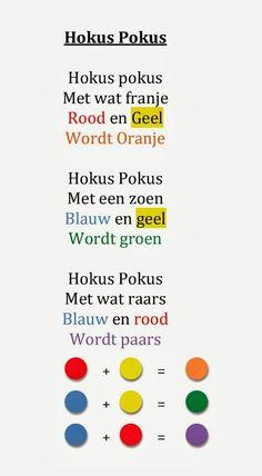 3KB – De Regenboogjes » Liedjes en versjes Rembrandt, School Projects, Art Projects, Color Mixing Guide, Dutch Language, Herve, Language Activities, Nursery Rhymes, In Kindergarten