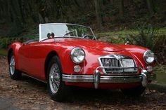 Red 1962 MG MGA MKII