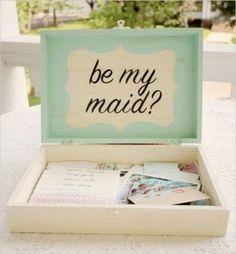 Cute & creative ways to invite your #bridesmaids www.ElegantAffairEvents.net