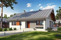 Projekt domu Endo 3 187,85 m2 - koszt budowy - EXTRADOM Beautiful House Plans, Beautiful Homes, Tiny Guest House, Sweden House, Garage Apartment Plans, My House Plans, Curb Appeal, Exterior Design, New Homes