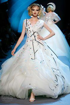 christian dior couture wedding dresses fall 2011; #couture #haute couture #fashion #high fashion