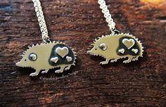 Silver Hedgehog Necklace Handmade by CybersilverJewellery on Etsy