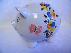 personalized piggy bank hand painted piggy bank piggy bank