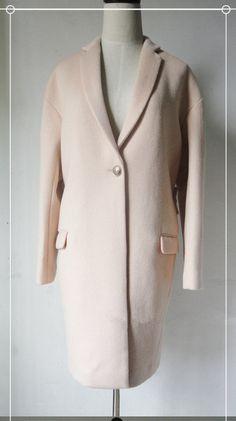 Handmade Oversize Pink Cashmere Wool Overcoat  0021 by JeniMissS