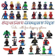 Marvel Avengers super hero lego figures sale, toy sale with free shipping, Christmas gift ideas for kids, Lego Party favors