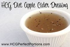 Apple cider can keep your weight loss on HCG fast. so use this HCG recipe to help! [HCG Apple Cider Vinegar Dressing c Water, c Apple Cider Vinegar, 1 Packet Stevia, tsp. Hcg Diet Recipes, Apple Recipes, Low Carb Recipes, Cooking Recipes, Healthy Recipes, Hcg Meals, Cooking 101, Healthy Tips, 500 Calories