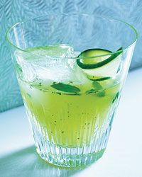 Pepino's Revenge: cucumber, basil, tequila, lime. #green #camillestyles