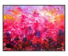 Rising Night Original abstract landscape painting acrylic contemporary artwork