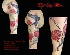 #tattoo #color #colortattoo #flowers #flowerstattoo #artkatattoo #artka #artkatattoostudio