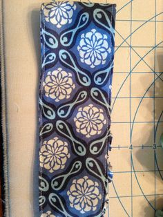 Blue Medallion Headband on Etsy, $5.00