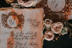 Burnt orange watercolour background wedding invitations, finished off with gold crest designs and hand applied, fine art calligraphy. Perfect for a luxury country wedding at Came House, Dorset. Italian Wedding Invitations, Country Wedding Inspiration, Private Estate Wedding, Countryside Wedding, Sophisticated Bride, French Wedding, Country Weddings, Italy Wedding, Wedding Shoot