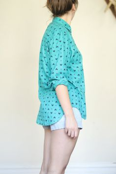 vintage teal navajo print button up shirt $24 from afinedayforsailing on Etsy. Totally getting this!