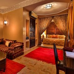 Riad Kniza Marrakech, Morocco indoor floor wall room Living property ceiling Suite living room recreation room interior design furniture real estate home cottage decorated