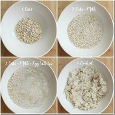 Egg white oatmeal - easy way to add protein to breakfast! white Egg White Oatmeal in the Microwave Egg White Oatmeal, Oatmeal And Eggs, Oatmeal Cake, Oatmeal Muffins, Baked Oatmeal, Healthy Breakfast Muffins, High Protein Breakfast, Breakfast Recipes, Breakfast Ideas