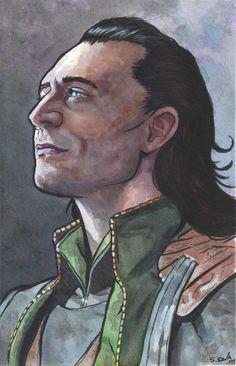 Loki Watercolor Painting... by ssava.deviantart.com on @deviantART