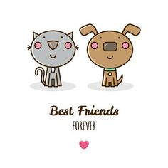 #drawing #draweveryday #illustration #vector #art #digitalart #dog #cat #friends #bestfriends #bestfriendsforever  #cute #cartoon #рисунок #друзья #лучшиедрузья