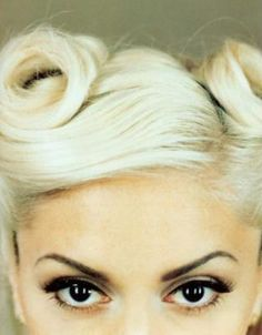 victory rolls and cat eyes from the queen of both--Gwen.