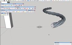 How to use Follow and Rotate Sketchup Plugin to model a twisted cable Sketchup Rendering, Sketchup Model, Softwares, Google Sketchup, Model House Plan, Toolbox, Modeling, Cable, Letters