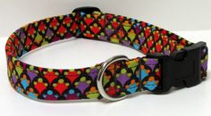 Jewel Tones Handmade Dog Collar ONE LEFT Size LARGE by GoneDoggie