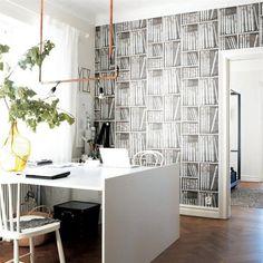 libreria fornasetti wallpaper {via nitelshop}